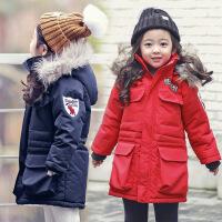 2018儿童外套冬季加绒棉衣韩版中长款加厚中大童男童女童棉袄