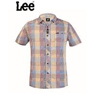 Lee 【断码】专柜男士纯棉格子短袖衬衫L10926427389