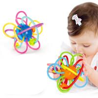 儿童玩具 曼哈顿球牙胶摇铃玩具磨牙棒宝宝儿童益智早教礼盒装生日礼物 619A星河牙胶球