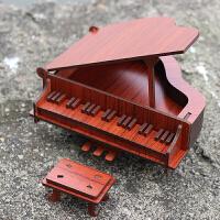 家居房间装饰摆件模型钢琴迷你乐器送女孩男孩生日礼物