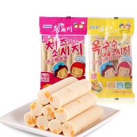 韩国进口ZEK芝士味鳕鱼肠105g 奶酪味鳕鱼肉肠海鲜肠 休闲零食品