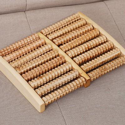 木质脚底按摩足疗机品 时尚*8排实木滚轮按摩器 双8排足部按摩轮 1个 8排特大号尺寸270*205*40