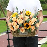 有情人鲜花 成都同城手提花篮鲜花速递武汉南京上海广州杭州花店生日玫瑰花束