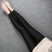 夏季打底裤女薄款外穿冰丝打底裤大码显瘦紧身光泽裤弹力小脚裤女
