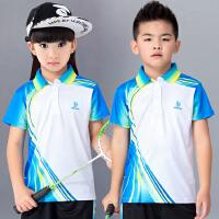 春夏新款儿童羽毛球服透气速干短袖运动上衣男童乒乓球服