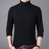 2018秋季新款新款高领羊毛衫男毛衣针织打底羊绒衫套头毛线衣服