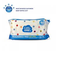 【网易考拉】Little ones 无香味婴儿湿巾 亲肤天然 柔韧呵护 安全不刺激 80抽/盒