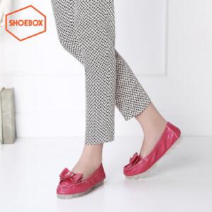 达芙妮集团 鞋柜 圆头平跟套脚甜美淑女蝴蝶结柔软舒适单鞋