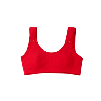 少女大红色内衣套装纯棉发育期无钢圈文胸初中学生本命年小背心女 单件内衣