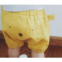 瞧这可爱的PP 男女童大PP半裤 纸尿裤宝宝好穿 小熊耳朵棉麻短裤