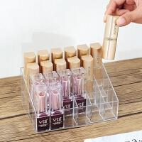 桌面透明多格口红收纳盒展示架24格指甲油睫毛膏整理展示架