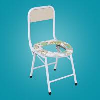 �和�坐便凳加固孕�D坐便椅老人防滑��所凳移�玉R桶座便器洗澡凳子 白色 40高白色小折椅