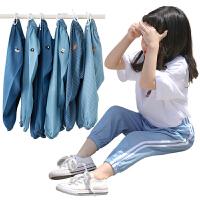 儿童防蚊裤女童夏装薄款夏季宝宝男童装牛仔长裤子