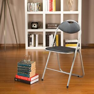 [当当自营]好事达 带孔扇形钢折椅6598黑 椅子 折叠椅 餐椅