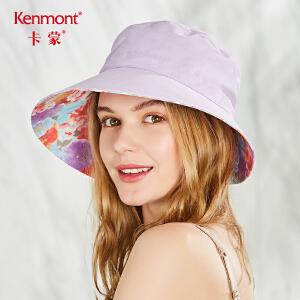 卡蒙防紫外线太阳帽遮阳帽女夏户外骑车防晒凉帽可折叠大沿帽青年 3500