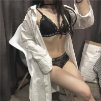 2018春秋新品韩版女士蕾丝花边字母裹胸吊带背心内衣内裤学生套装