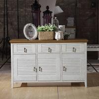 尚满 地中海系列多用斗柜 卧室家具系列 实木框架斗柜 水曲柳木储物柜 多功能斗柜