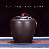 紫砂茶叶罐大号普洱七饼罐储茶盒全手工醒茶罐茶缸茶叶桶陶瓷