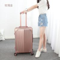 拉杆箱女万向轮旅行箱24寸男登机箱20寸韩版学生拉链行李箱s 玫瑰金 20寸
