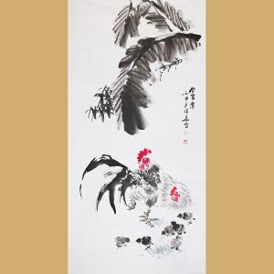 安徽省美术家协会会员张华先生作品――合家乐