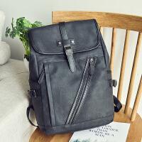 新款潮流防水双肩包男士商务休闲电脑背包中大学生书包时尚旅行包
