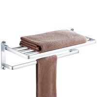 贝乐卫浴BALLEE G5508免打孔太空铝浴室毛巾架卫生间置物架折叠浴巾架