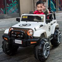 儿童电动车四轮玩具遥控汽车可坐人大人宝宝四驱越野车双人 k7v