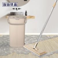 当当优品 免手洗干湿两用平板拖把 刮刮乐 咖色