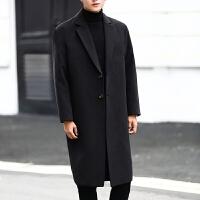 男士毛呢大衣2017冬季韩版宽松中长款风衣青年时尚呢子大衣外套潮