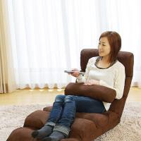 家逸 创意加长加厚懒人沙发榻榻米单人床 折叠沙发床 卧室电脑靠背沙发椅飘窗椅 休闲沙发 八节