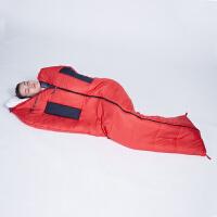 【下单5折】探路者秋冬户外男女便携保暖200g/�O棉睡袋ZECF90847