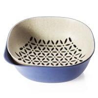 双层沥水篮 厨房洗菜盆子 塑料水果篮沥水洗菜篮