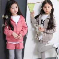 女童卫衣套装韩版秋款母女中大童纯棉外套长裤假运动套装