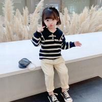 女童毛衣套装2021春秋儿童装新款韩版宝宝小童网红洋气潮流两件套