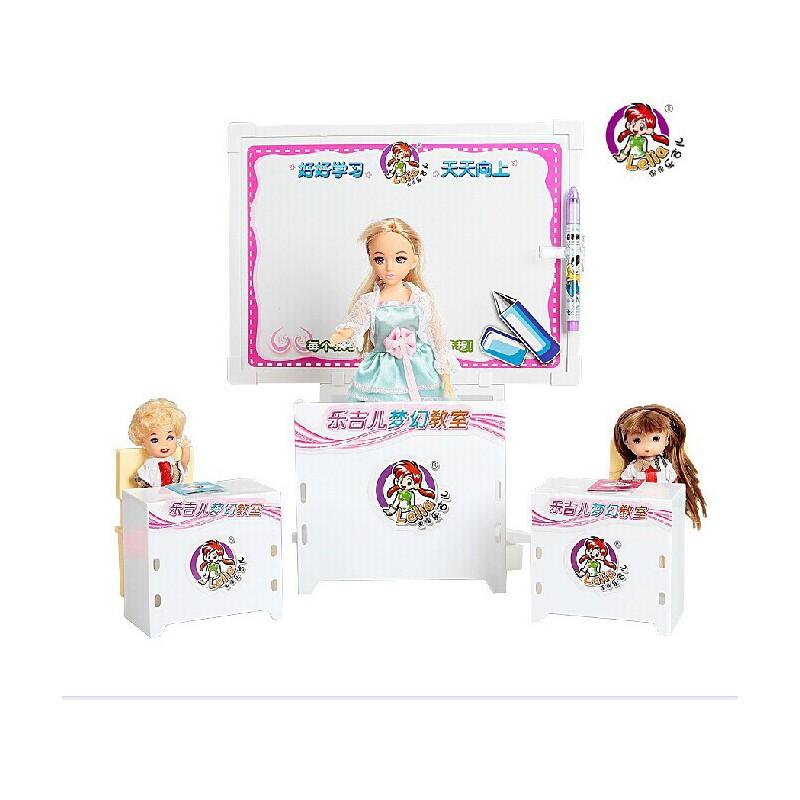 乐吉儿梦幻教室芭比娃娃套装礼盒2014女孩过家家玩具