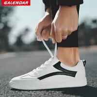 【限时特惠】Galendar男子板鞋2018新款简约百搭休闲板鞋男生系带平底校园板鞋YG7777