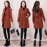 2017秋冬季新款女装韩版百搭时尚呢子大衣中长款毛呢外套上衣