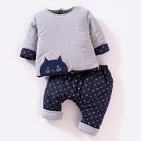 婴儿套装0岁3个月1男女宝宝冬装6新生儿加厚棉衣服秋冬季小孩棉袄