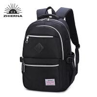 智尔娜中学生书包男新款双肩包女时尚旅行电脑包