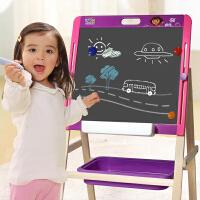 特宝儿 朵拉儿童画板画架套装 可升降小黑板宝宝双面磁性画画写字板儿童画板