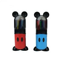 迪士尼 米奇24色可洗水彩笔(外壳颜色随机)D280024水彩笔学生用品儿童水彩笔涂鸦笔绘画彩笔画画笔 当当自营