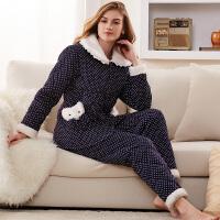 【都市丽人】睡衣女 新品可爱甜美秋冬女士睡衣家居服套装