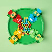 青蛙吃豆玩具儿童亲子对战桌面游戏趣味
