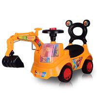 儿童玩具挖掘机可坐可骑宝宝大号挖机四轮工程学步车小男孩挖土机