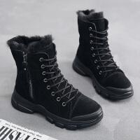 女童雪地靴子秋冬季大童马丁儿童棉靴加绒鞋冬款