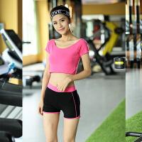 2018新款健身服套装女夏背心短袖短裤运动瑜伽服女士显瘦韩国