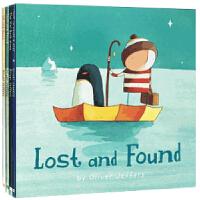 【英文原版】奥利弗 杰夫斯精选图画Oliver Jeffers: Up and Down, The Way Back Home, How to Catch a Star, Lost and Foun