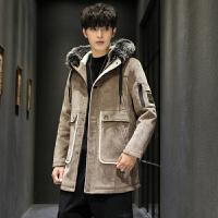 呢子大衣冬季男韩版英伦风中长款大衣男士潮流帅气风衣加厚外套潮