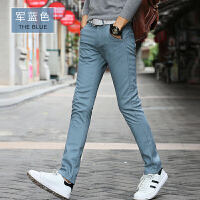 秋冬男裤休闲裤男修身韩版潮商务休闲西裤直筒黑色长裤子冬季加绒