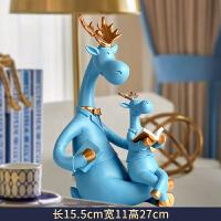 简约现代客厅摆件家居饰品鹿摆设儿童房卧室装饰品生日小礼物